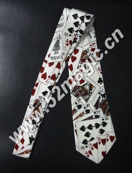 其它配件 扑克牌领带  魔术师必备品,整个领带上印有扑克牌面花纹.