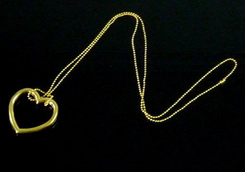 魔术道具 近景魔术 心形明日环(金色)  钢圈为无缝合金环,链子用极细
